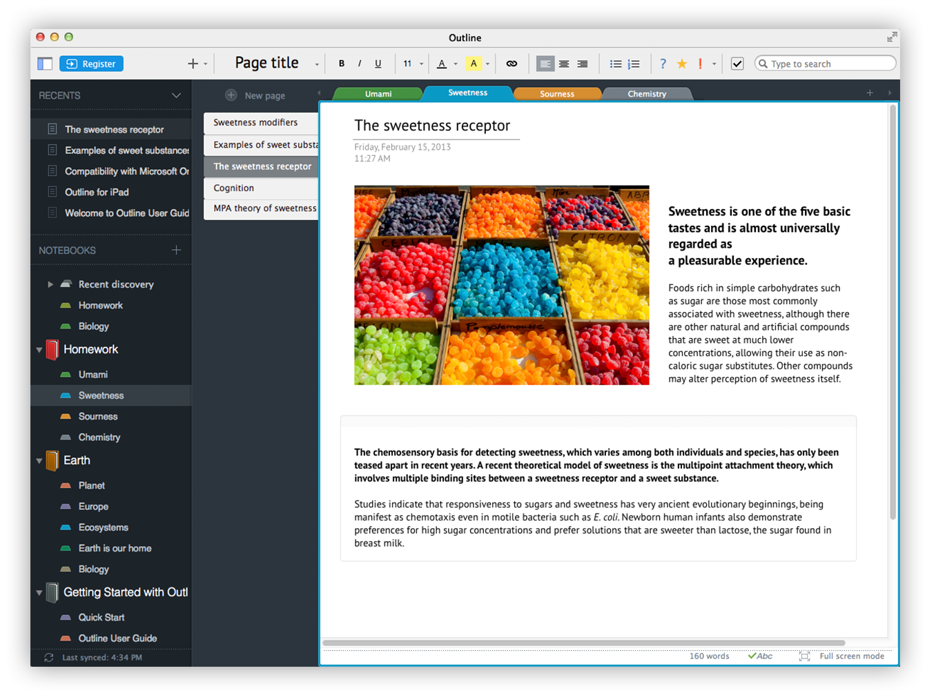 Outline - your digital notebook for iPad and Mac