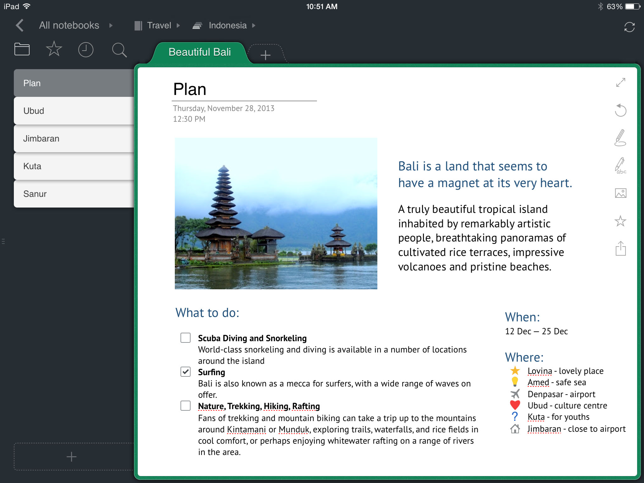 outline your digital notebook for ipad and mac
