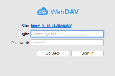 Outline sync settings: WebDAV authorization